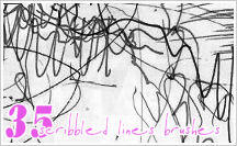 Brushes: SCRIBBLED LINES by JG-Starick
