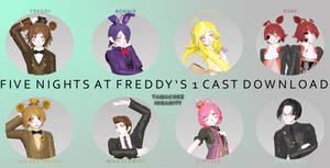 {MMDxFNaF} FNaF 1 Cast [DOWNLOAD]