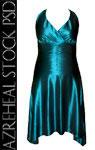 teal_satin_dress