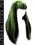 longblack_green_hair by azreheal