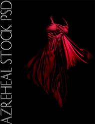 red_satin_flo_dress by azreheal