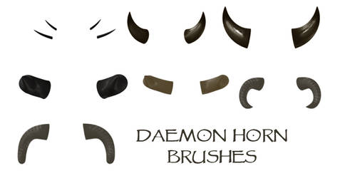 Daemon Horn Brushes by WitsResources