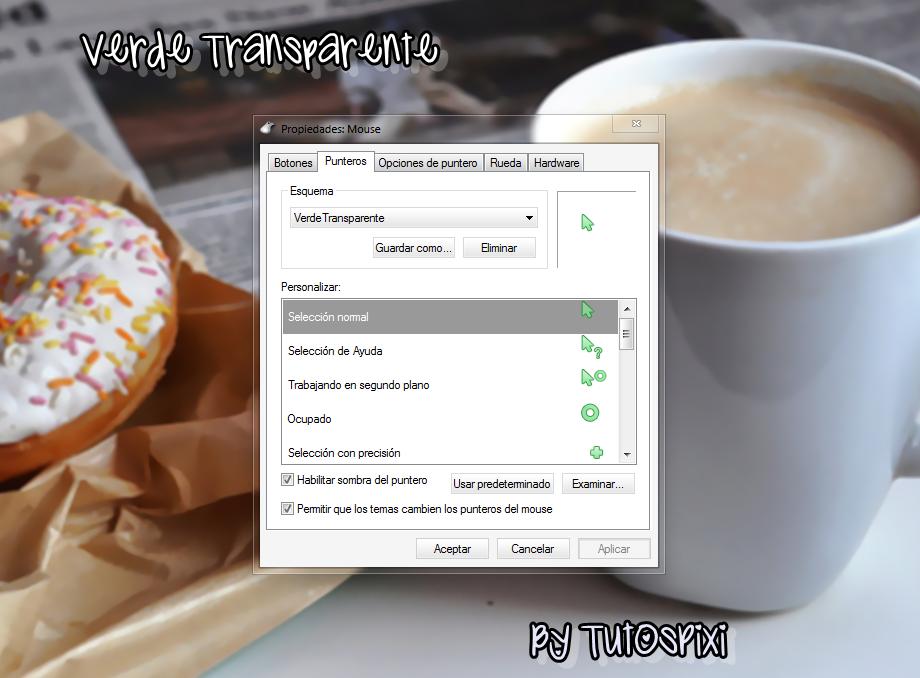 Cursor Verde Transparente by TutosPixi