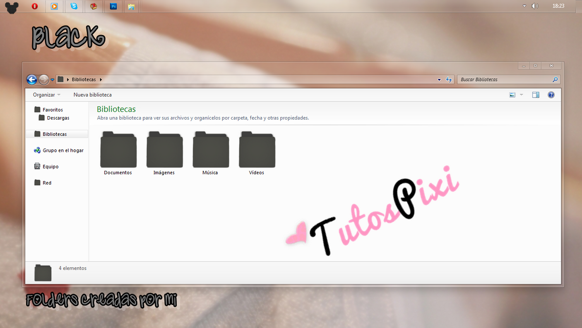 Tema Iconpackager BlackTP by TutosPixi