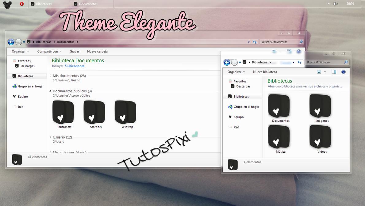 Tema Iconpackager Elegante by TutosPixi