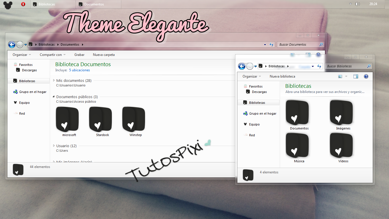 Tema Iconpackager Elegante by TutosPixi