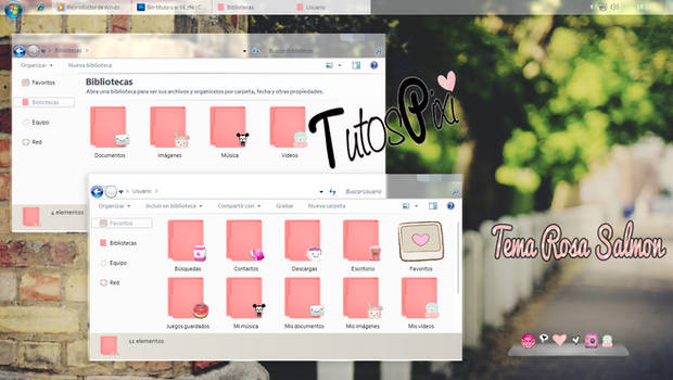 Tema Iconpackager rosa salmon