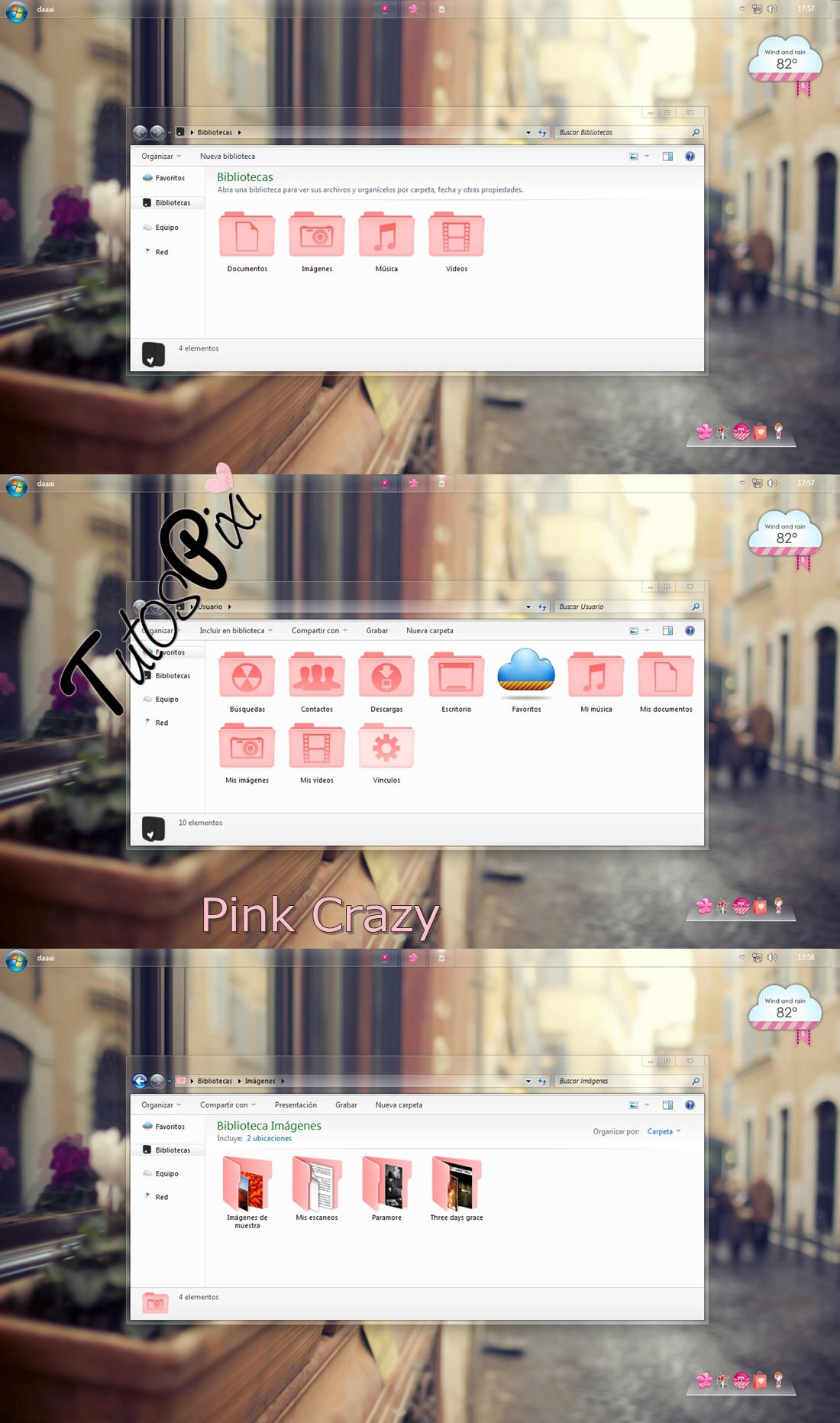 Tema Iconpackager Pink Crazy by TutosPixi