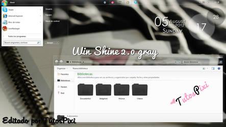 Theme win 7 Shine 2.0 Gray by TutosPixi