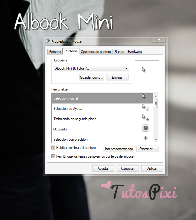 Cursor Albook Mini blanco by TutosPixi