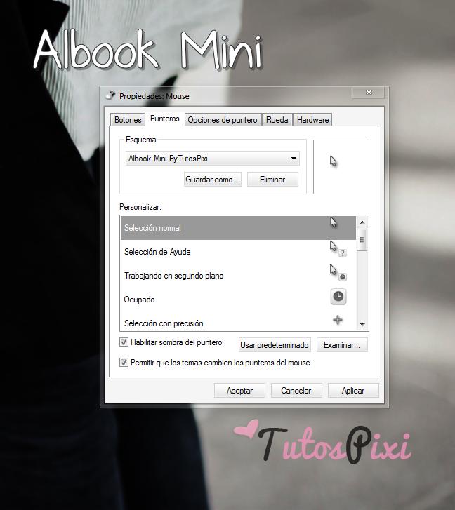 Cursor Albook Mini blanco by TutosPixi