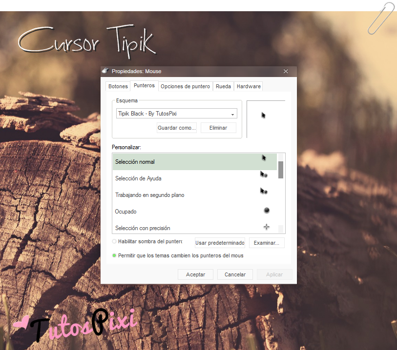 Cursor Tipik Black by TutosPixi
