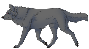 Free Wolf Lineart V2 by Junenae