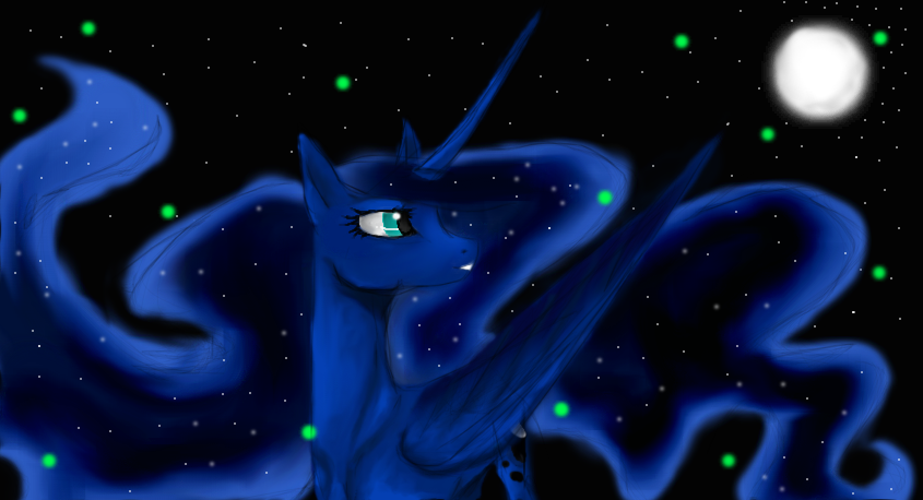 princess Lunar , Guardian of the night by ultimate-galaxy