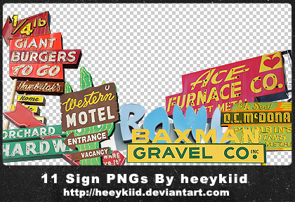 11_Sign_PNGs_By_heeykiid by heeykiid