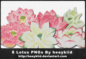 8 Lotus PNGs By heeykiid by heeykiid