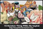 15 Random Thing PNGs By heykid