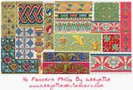 16 Pattern PNGs By heeykiid