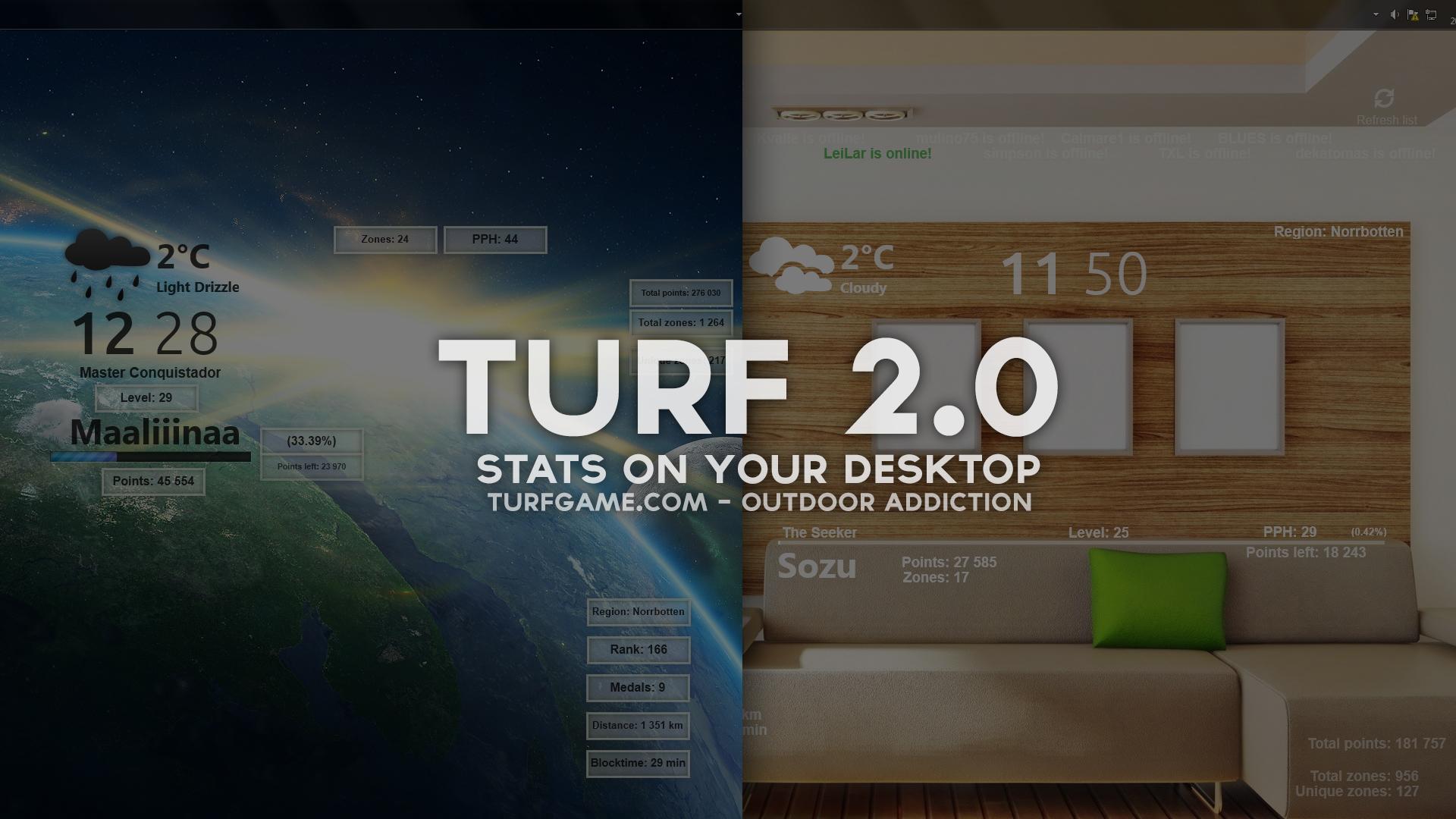TURF 2.0 Rainmeter