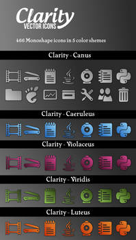 Clarity Vector Icons