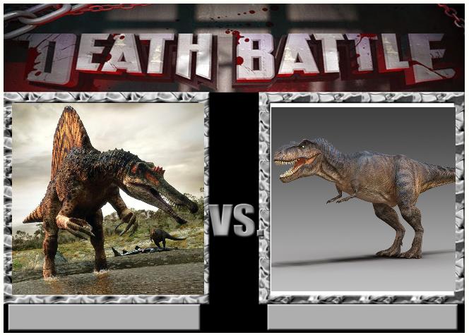 Death Battle 22: Spinosaurus vs T-rex by Kiryu2012 on DeviantArt