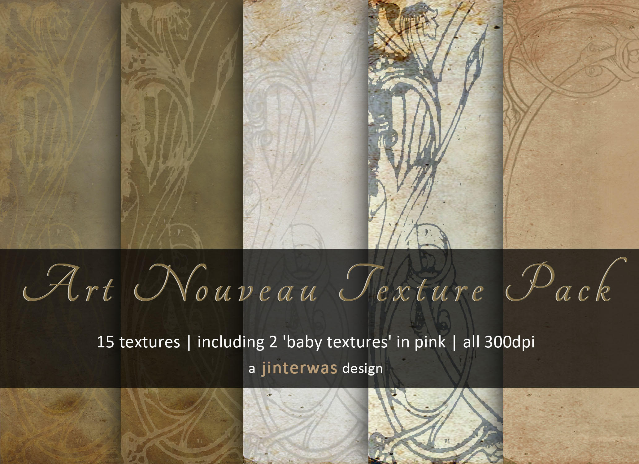 Art nouveau texture pack by jinterwas