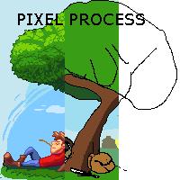 Rest - pixel process by Caynez