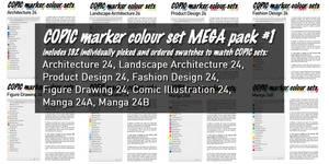Copic Marker Colour Swatch Set MegaPack01