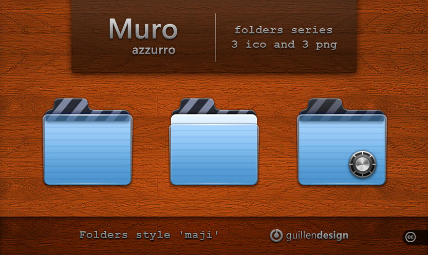 MURO AZZURRO  folders by GuillenDesign
