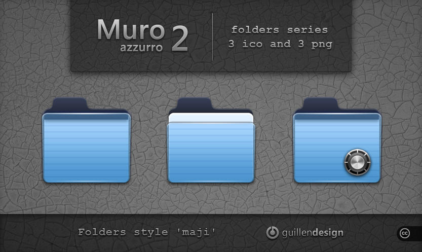 MURO AZZURRO  folders  2 by GuillenDesign