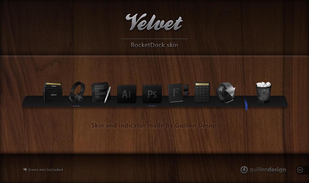 VELVET RocketDock by GuillenDesign