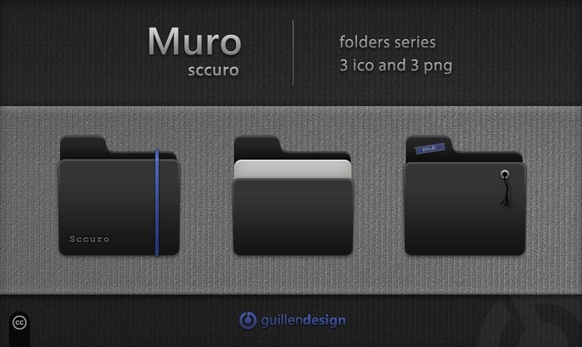 MURO SCCURO Folders by GuillenDesign