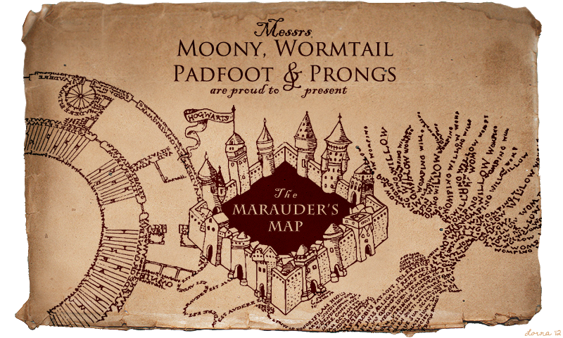 Marauder's Map Brush Set by hasuhime