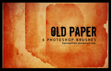 Old Paper PS Brushes by melodyofrain
