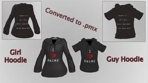 I love Anime Shirt [MMD DL]