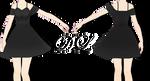 .:: MMD - Elegant Black Dress Download ::.
