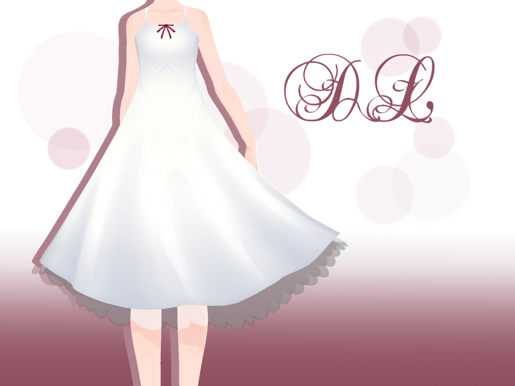 Mmd White One Piece Dress Downlod By Anecoco On