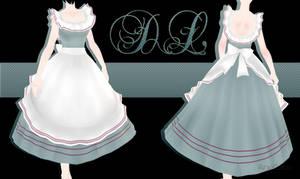 .:: MMD - Vintage Apron Dress DOWNLOAD ::.
