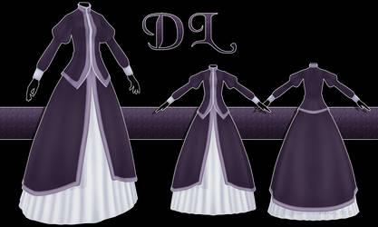 .:: MMD - Purple dress DOWNLOAD ::.