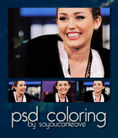 PSD COLORING miley cyrus. by SoYouCanLeave