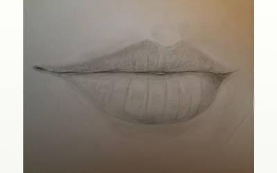 Lip practice :P by gguitarart