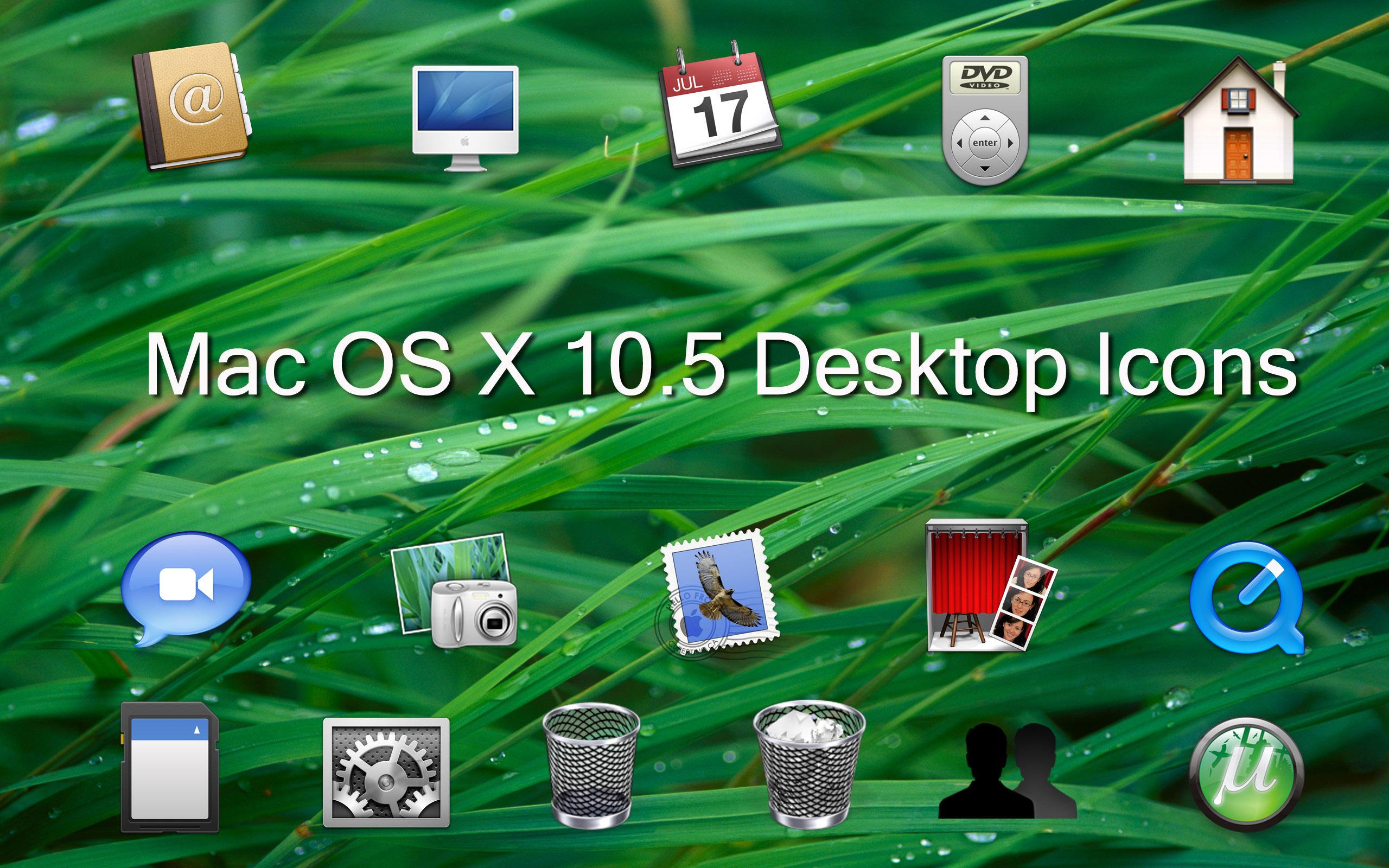 Desktop Icon Set Mac os x Desktop Icon Set