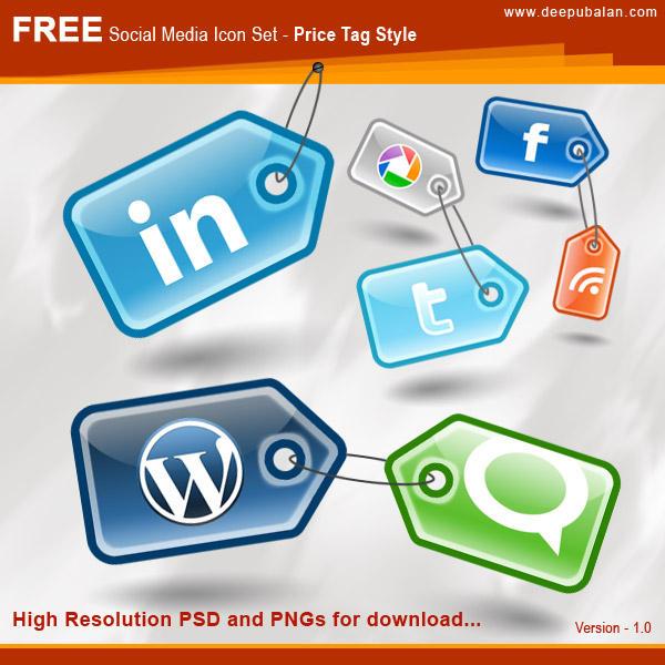 Social Media Icon-Set by bdeepu
