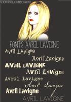 +Fonts Avril Lavigne by NeverStopBelieve