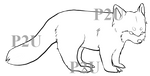 Red Panda Lineart - P2U 20points by Trollcreak-Adopts