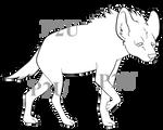 Hyena Lineart - P2U PAINT FRIENDLY 30points by Trollcreak-Adopts