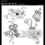 Photoshop Brushes - Doodle Flowers #1