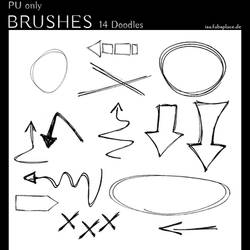Doodle PS Brushes for Journaling