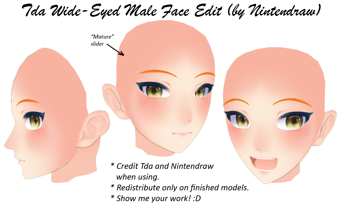Mmd male face