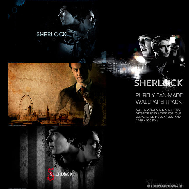 Sherlock 01 wallpaper pack by erebus-odora